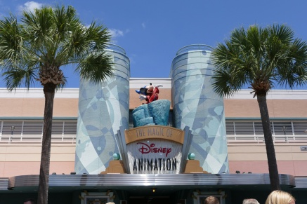 The entrance to the animation section in Hollywood Studios.