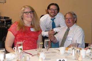 With fellow delegates Matt Birong and Ken Dean.