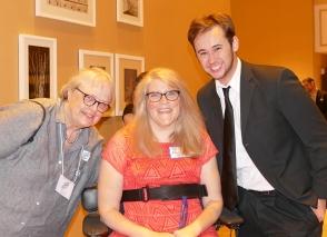 Chair Dottie Deans and delegate Noah Detzer.