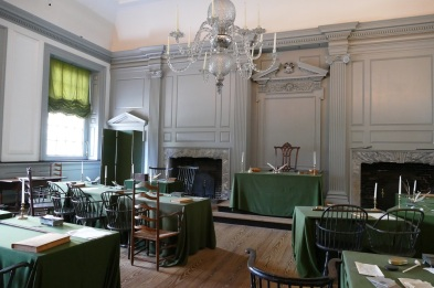 The Assembly Room where the Continental Congress declared Independence