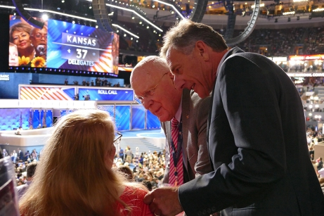 Talking with Sen. Leahy and Gov. Shumlin
